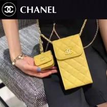 Chane1 2033-03  香奈兒新款球紋手皮手機母子包