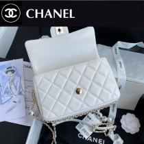 CHANEL AS1533-01  香奈兒新款原版皮最新爆款大mini cf珍珠包