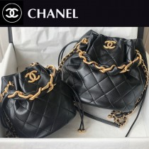 Chanel  AS2391-01  香奈兒新款福袋抽繩水桶包