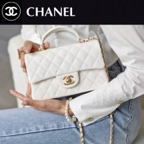 CHANEL-01  香奈兒新款手柄系列CF手提包口蓋包