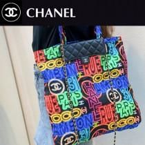 CHANEL 香奈兒 2306原版皮新款手提鏈條包購物袋