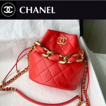 Chanel AS2390-01  香奈兒新款小號福袋抽繩水桶包