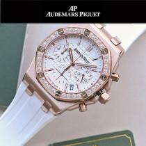 AP愛彼皇家橡樹離岸型系列金色石英VK67女士計時腕表