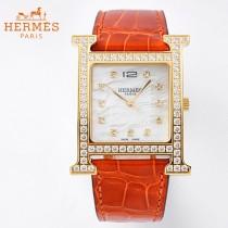 愛馬仕Heure-003   H系列正品原裝瑞士機芯镶钻系列手表