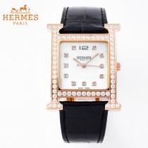 愛馬仕Heure-001   H系列正品原裝瑞士機芯镶钻系列手表