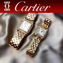 卡地亞CARTIER原單獵豹PANTHERE DE系列瑞士鑲鉆款石英方形手表