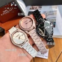 COACH蔻馳原單石英機芯陶瓷手錶 全陶瓷表帶