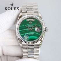 ROLEX恒动劳力士日志36孔雀石星期日历型