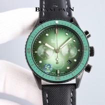 寶珀五十潯深潛器飛返計時碼表瑞士進口7750機芯