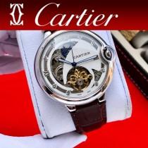 卡地亞CARTIER尊貴紳士潮男三針飛輪全自動機械腕表