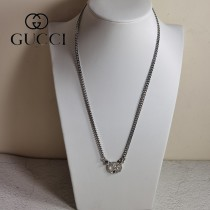 gucci 古奇   小熊項鏈女鎖骨鏈 吊墜復古簡約大方韓版拼接飾品