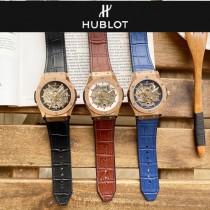 恒寶 Hublot精品男士鏤空腕表 簡約兩針全鏤空設計