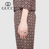 Gucci古馳戒指interlocking系列 雙G戒指 開口設計