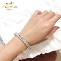 HERMES愛馬仕精工版本滿鉆手鐲 烤漆工藝 亞金材質
