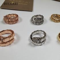 BVLGARI寶格麗 SERPENTI系列蛇形戒指單頭帶鉆戒指