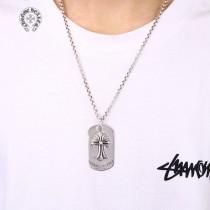 克罗心  镶嵌十字军牌项链 粗链款 细链款 三种链条