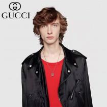 Gucci 古馳做舊項鏈 雕花鏤空G字 圓形方形兩款