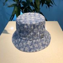 LV 專櫃新款路易威登家刺繡漁夫帽,簡單大方 男女通用遮陽帽