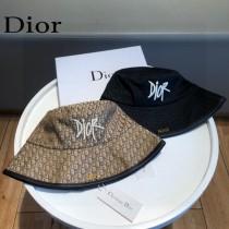 DIOR迪奧 專櫃新款簡約刺繡款包邊漁夫帽