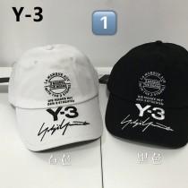 Y-3 山本耀司  CAP 男女同款 簽名LOGO刺銹 棒球鴨舌帽 均碼58cm