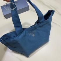 尾單PRADA菜籃子手提包 ,化妝包收納包  純正原包裝 大口隨心裝