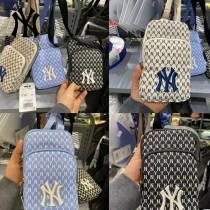 MLB NY滿印老花手機包 原版開模 高品質 支持掃碼驗貨 顏色黑色 米色 天藍