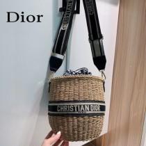 Dior迪奧2021專櫃新款草編包,籃子包