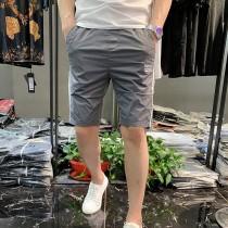 潮牌短褲男條紋沙灘褲新品夏裝休閑大碼彈力五分褲透氣速幹馬褲潮