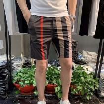 夏季新款男士潮流抖音同款格子休閑短褲情侶速幹沙灘褲大碼五分褲