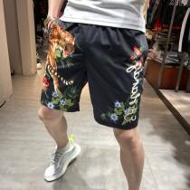 夏季老虎男五分短褲韓版潮流顯瘦時尚印花男士沙灘褲子寬松休閑褲