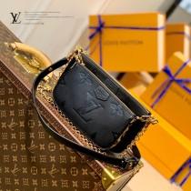 原單 M58520  黑色豹紋三件套  Multi Pochette Accessoires 手袋