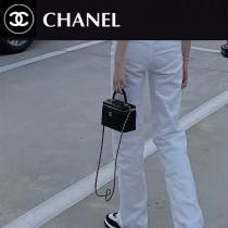 AP2303 chanel香奈兒秋冬新品手工坊系列進口羊皮金球化妝盒子包長型收納盒