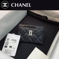 2039 CHANEL香奈兒新款 原廠球紋皮 單片卡包  搭配雙C 亮漆皮面彩鉆logo設計