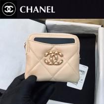 2086  CHANEL香奈兒原單新款19系列羊皮零錢包 卡包