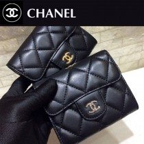 80798 chanel香奈兒新款原版羊皮卡包零錢包