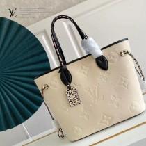 M45686-01  購物袋 豹紋系列 NEVERFULL 中號手袋