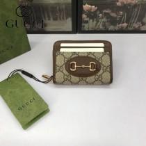 658549-02  GUCCI古馳 GG Marmont系列原版皮拉鏈零錢包卡包