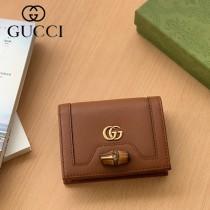 658244-03  Gucci古馳 Diana竹節系列原版皮短夾