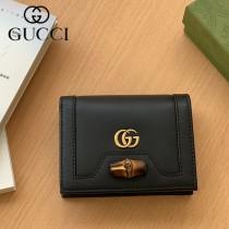 658244-01  Gucci古馳 Diana竹節系列原版皮短夾