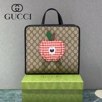 648797  GUCCI古馳 蘋果原單Supreme帆布兒童包購物袋