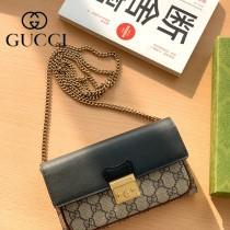 658226-01   Gucci古馳 Padlock系列原版皮鏈條包