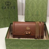 658243-03   GUCCI Diana 原单鏈條包鏈錢包