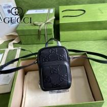 658553-01   GUCCI古馳 原單全壓花GG相機包手機包郵差包