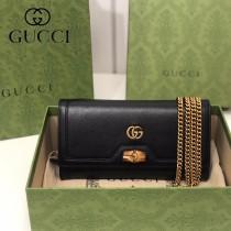 658243-04   GUCCI Diana 原单鏈條包鏈錢包