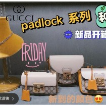 409487-0001  GUCCI Padlock系列拼色小方盒