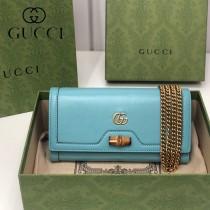 658243-05   GUCCI Diana 原单鏈條包鏈錢包
