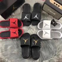 AJ喬6飛人拖鞋潮牌時尚學院風一字拖喬六丹籃球運動男女款涼拖鞋