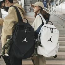 AJ韓版潮書包男女雙肩背包 初中大學生大容量書包旅行電腦包女時尚