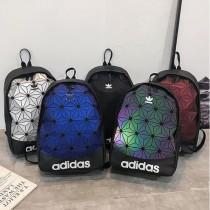 ADIDAS  新款潮牌炫彩菱形格雙肩包男女學生時尚韓版書包旅行戶外背包