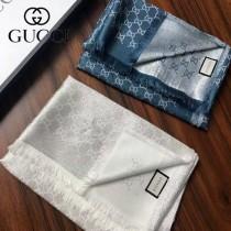 Gucci 經典雙G字母標識金銀絲提花披肩